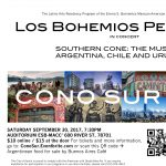 Los Bohemios Perdidos Concert--Southern Cone: The Music of Argentina, Chile, and Uruguay