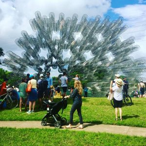 Ai Weiwei's 'Forever Bicycles' at Waller Creek