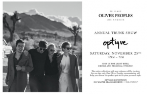 Oliver Peoples Annual Trunk Show | Optique