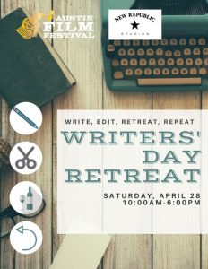 Writers' Day Retreat: Write, Edit, Retreat, Repeat...