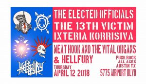 Punk Rock @Kick Butt April 12 Thursday Austin TX
