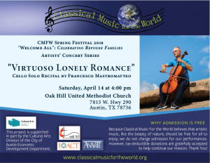 "CMFW presents ""Virtuoso Lonely Romance"""