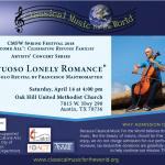 "CMFW presents ""Virtuoso Lonely Romance"""
