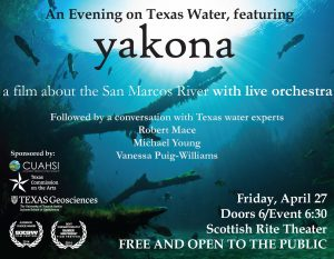 An Evening on Texas Water, featuring Yakona screening