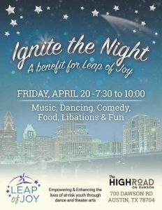 Ignite the Night: A Benefit for Leap of Joy