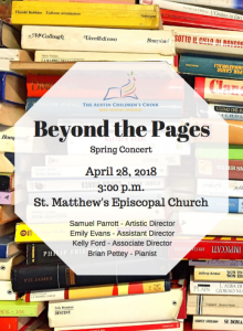 Beyond the Pages - Spring Choral Concert