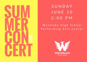 Waterloo Wind Band Summer Concert