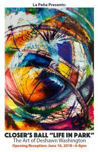 "Closer's Ball ""Life in Park"" art by Deshawn Washington"