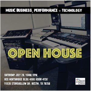 Music Business, Performance + Technology Open House