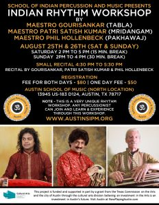 SIPM Indian Rhythm Workshop