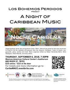 """Los Bohemios Perdidos Presents """"Noche Caribeña"""""""