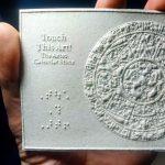 Touch This Art! The Book release. Aztec Calendar Stone, Arte Al Toque, la Piedra Solar azteca