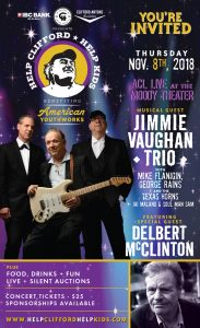 The Jimmie Vaughan Trio at Help Clifford Help Kids benefiting American YouthWorks