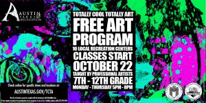TCTA Free Teen Art Program Kickoff 2018-2019