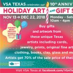 VSA Texas 10th Anniversary Holiday Art & Gift Show