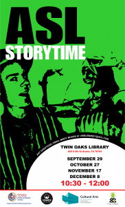 Storytime in ASL at Twin Oaks Library
