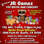 1st Annual JR Gomez Toy Drive and Concert