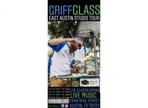GriffGlass Glassblowing Demos + Live Music - East Austin Studio Tour @Imagine Art #118