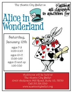 AUDITIONS: Alice in Wonderland
