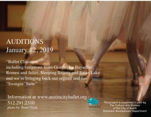 Auditions: Ballet Classique and Swingin' Suite