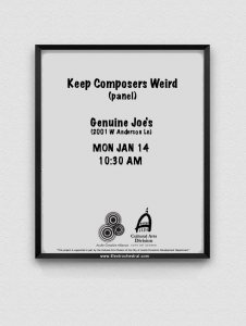 Keep Composers Weird 2019 panel/discussion