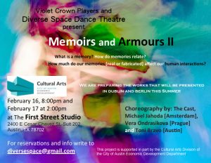 MEMOIRS AND ARMOURS II Next to last performance