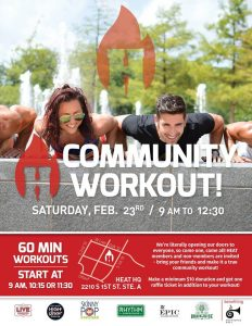 Heat Bootcamp Community Workout Benefiting Anthropos Arts