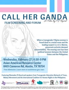 Call Her Ganda Film Screening and Forum