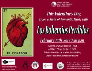 This Valentine's Day: A Night of Romantic Latin Music with Los Bohemios Perdidos