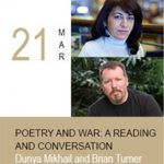 Poetry and War: A Reading and Conversation