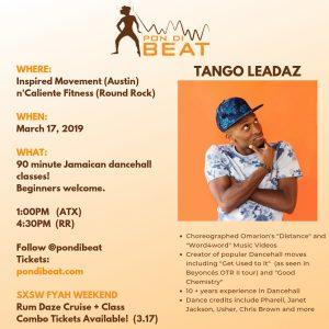 PON DI BEAT: DANCEHALL. TANGO LEADAZ ALL LEVELS DANCE MASTERCLASS