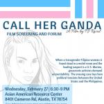 CALL HER GANDA Free Film Screening and Forum
