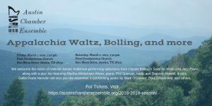 Austin Chamber Ensemble presents Appalachia Waltz,...