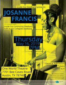 Inside Out Steelband presents Josanne Francis