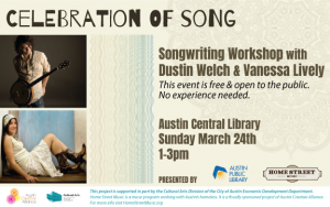 Free Songwriting Workshop presented by Home Street Music