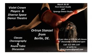 """THE ART OF MAKING DANCERS"" Ortrun Stanzel from Berlin, classes and Round Table Discussion"