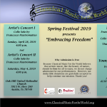 "CMFW's Spring Festival 2019: ""Embracing Freedom"""
