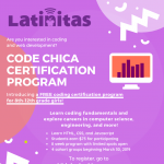 Code Chica Certification Program for High School Girls