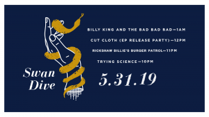Cut Cloth Album Release w/ Billy King & The Bad Bad Bad + More