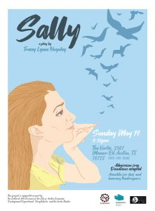 A public reading of SALLY, a play written by Trace...