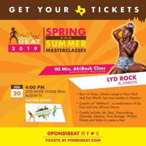 PON DI BEAT: AFRIROCK. LYD ROCK ALL LEVELS AFROBEA...