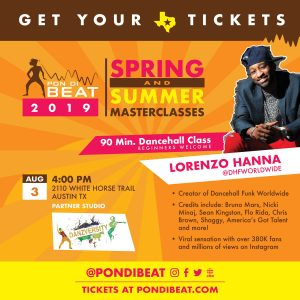 PON DI BEAT: DANCEHALL FUNK. LORENZO HANNA ALL LEVELS DANCE MASTERCLASS