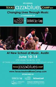 4th Annual, Texas Jazz & Blues Camp