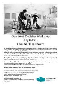 Prague Devising Workshop