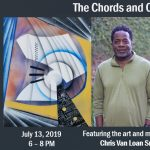 """Chords and Colors"" artist reception for painter and musician, Chris Van Loan Sr."