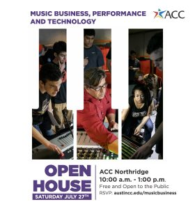 Music Business, Performnce + Technology Open House...