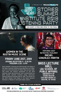 2019 Stories Summer Institute Listening Party:Women in Austin's Music Scene