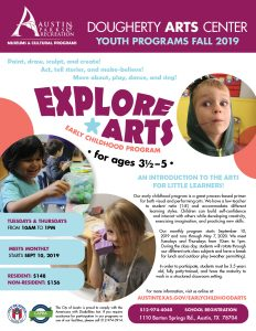 Explore Arts Early Childhood Program, Fall 2019