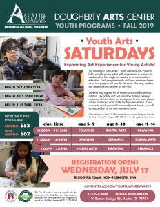 Saturday Youth Arts, Fall 2019
