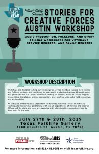 Stories for Creative Forces Austin Workshop